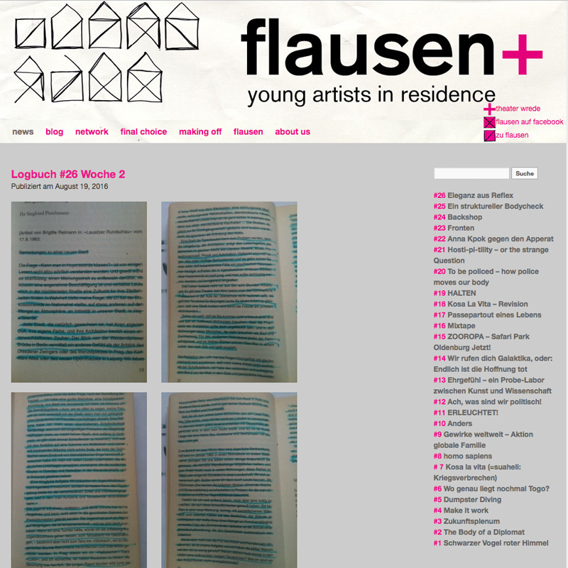 flausenblog - young artists in residence